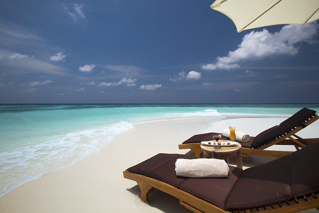 LOUNGERS ON BEACH SIDE