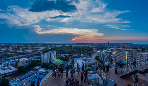 night exposure mayfair pano panorama panoramic johannesburg southafrica nikon randlords braamfontein sunset sunrise colors city cityskapes urban tower flickr