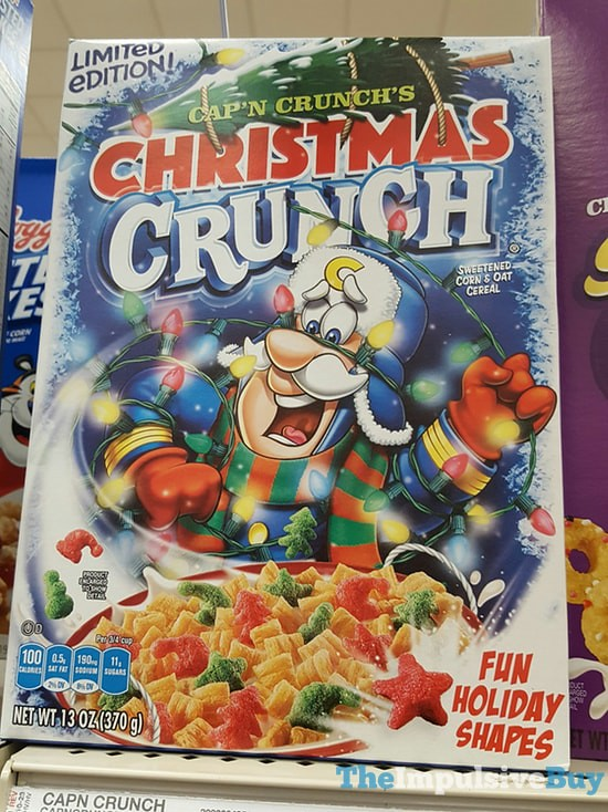 Christmas Crunch Cereal.Limited Edition Cap N Crunch S Christmas Crunch Cereal 20