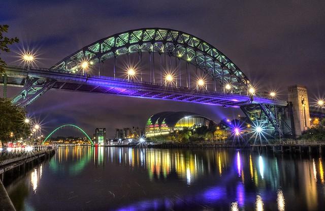 Tyne & Millennium Bridges - Newcastle + SAGE Gateshead