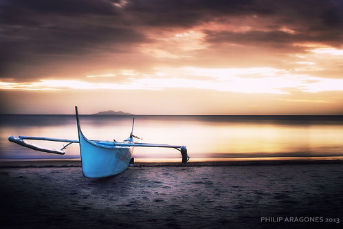 longexposure sunset beach boat sand nikon philippines batangas d7000