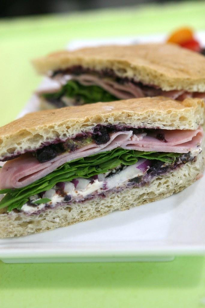 Ham Blueberry Sandwich