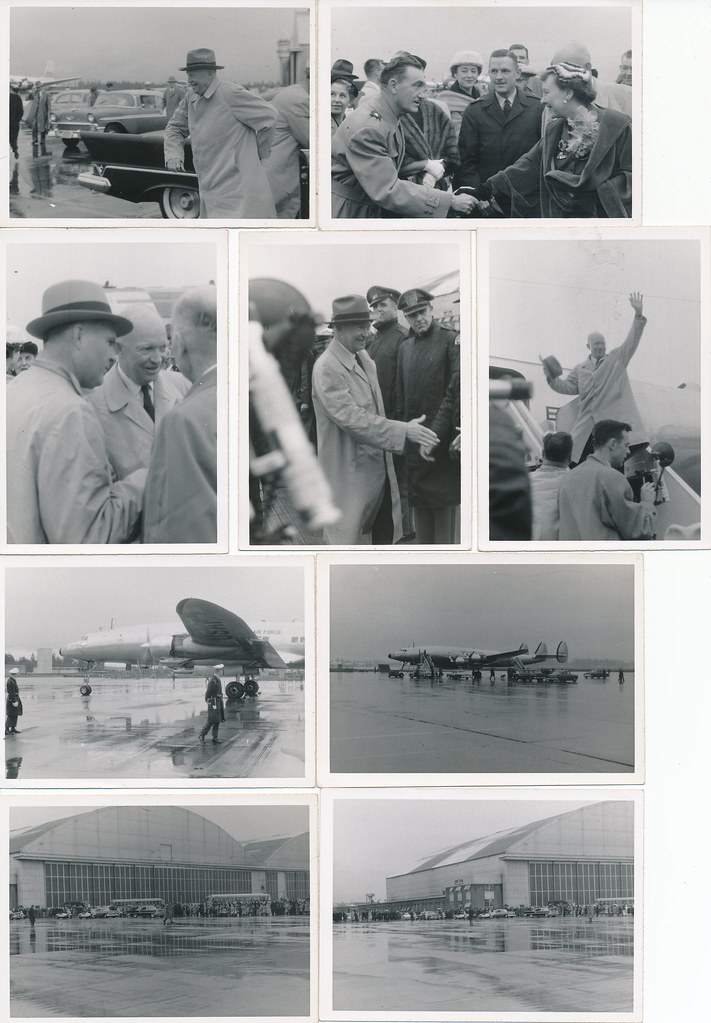 President Eisenhower visits McChord AFB Oct 18 1956 Group 01