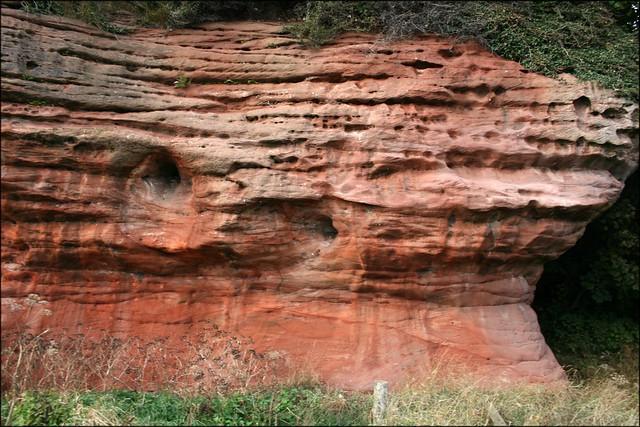 Red cliffs at East Wemyss