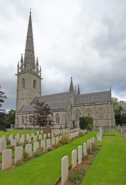 The Canadian war graves at St Margaret's Church, Bodelwyddan