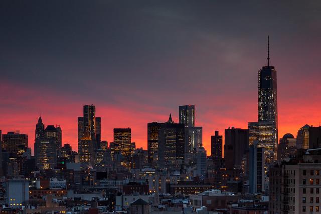 11.12.13 Sunset, Lower Manhattan, NYC