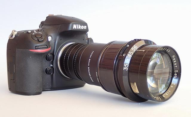 Nikon D800 with Rokuoh Sha Hexar Ser IIa 20cm f/3.5 lens (s/n 3795)