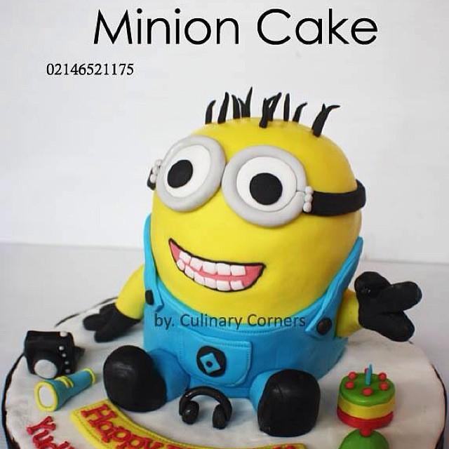 Kue Ulang Tahun Berbentuk Minion Tiga Dimensi Despicab