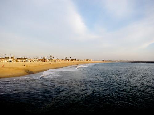 ocean california usa beach water landscape day pacific cloudy sealbeach