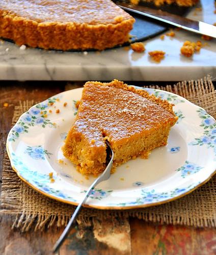 Pumpkin & Coconut Tart - A Gluten Free Baking Recipe   www.fussfreecooking.com   by fussfreecooking