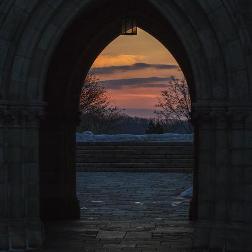 door winter sunset snow church nikon d800