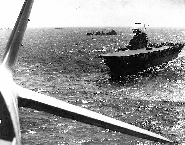 USS Yorktown (CV-5) operating in the vicinity of the Coral Sea