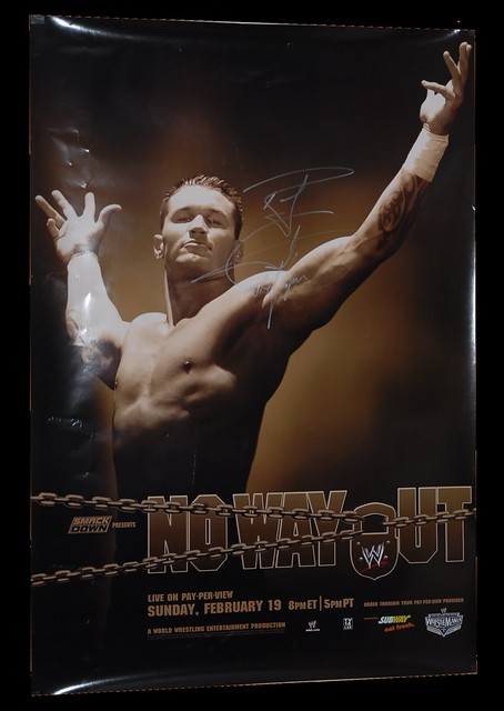 Randy Orton Autographed WWE No Way Out 2006 PPV Poster