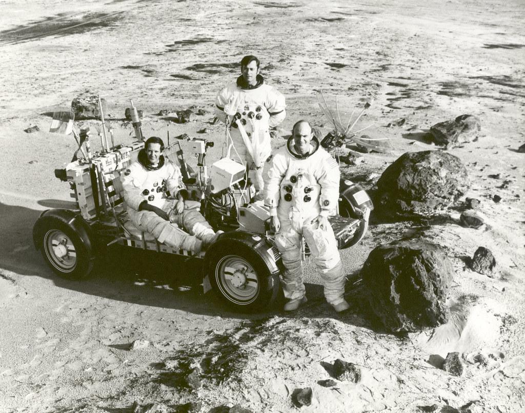 Apollo 16 Astronauts Train for Lunar Landing Mission