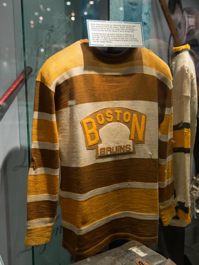 fff05a4f027 Eddie Shore jersey | Boston Bruins jersey worn by hard-nosed… | Flickr