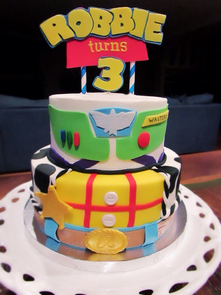 Swell Toy Story Birthday Cake Toy Story Cake Covered In Buttercr Flickr Personalised Birthday Cards Fashionlily Jamesorg
