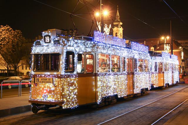 Christmas tram in Budapest 30