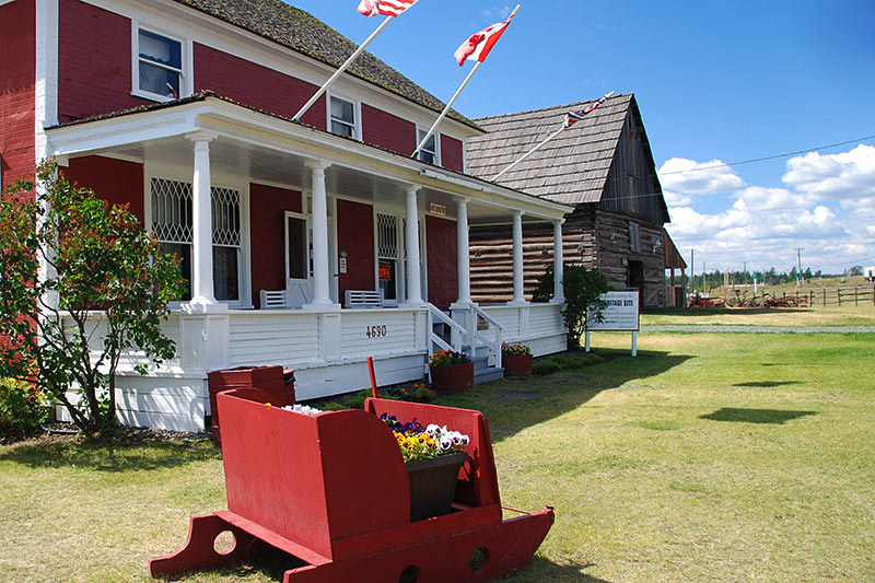 108 Mile Ranch Heritage Site, 108 Mile House, Highway 97, Cariboo, British Columbia, Canada
