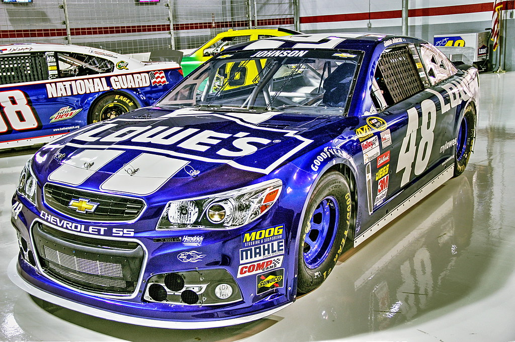 No 48 Lowes Chevrolet Ss Jimmy Johnson Taken At The Hend Flickr