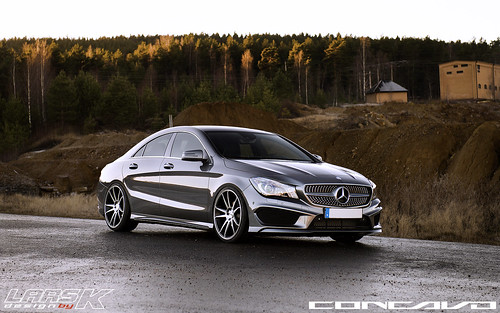 Mercedes Benz CLA on CW-S5 Matte Black Machined Face | by Concavo Wheels
