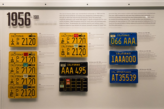 California License Plates 1956-1981