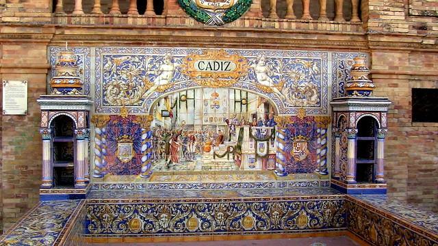 Seville, la place d'Espagne