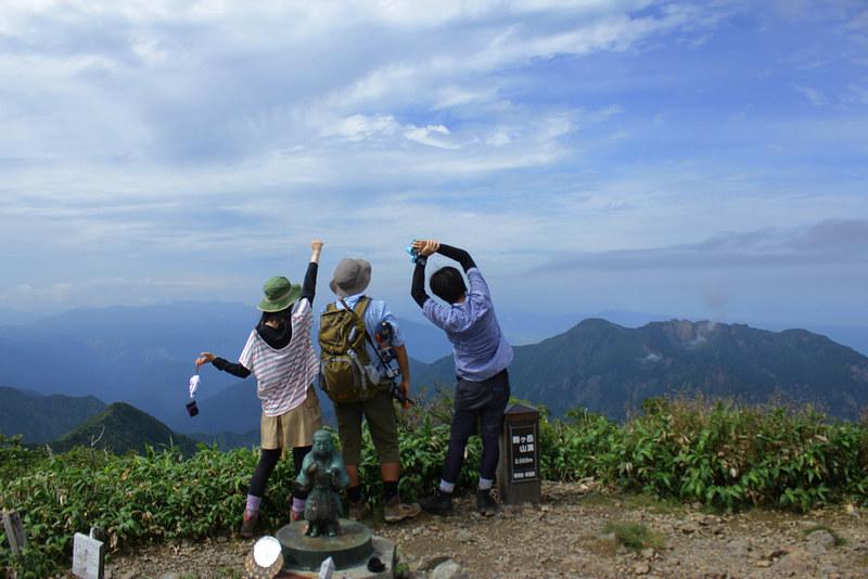 越後駒ヶ岳の集合写真