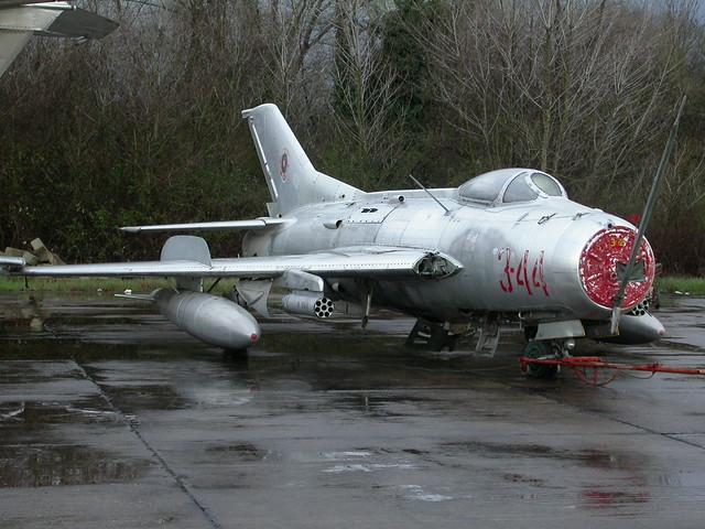 Shenyang F-6 3-44 c/n 3404 ex Albanian-AF. (Stored Tirana-Rinas, 14-03-2013)