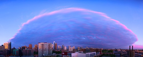 sunset sky panorama cloud chicago clouds