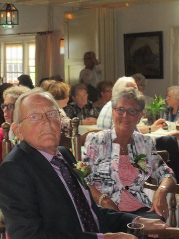 Toon en Riet Groenland 50 jaar getrouwd. 24-05-2014