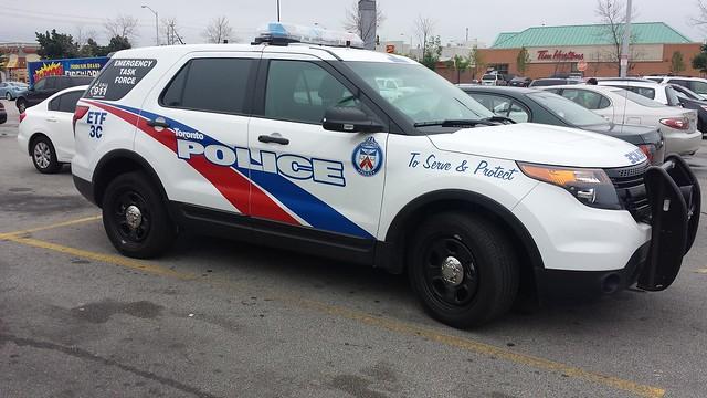 Toronto Police ETF new explorer suv