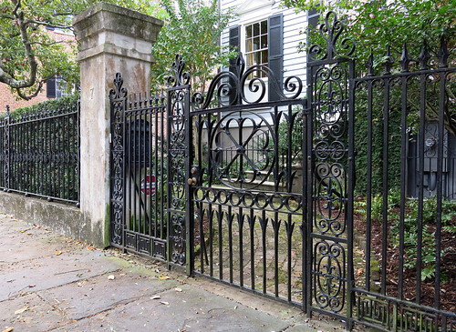 Wrought-iron fence and gate, Henry Laurens House,  7 Legare Street, Charleston, SC | by Spencer Means