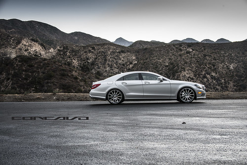 Mercedes Benz CLS550 on CW-12 Matte Black Machined Face | by Concavo Wheels
