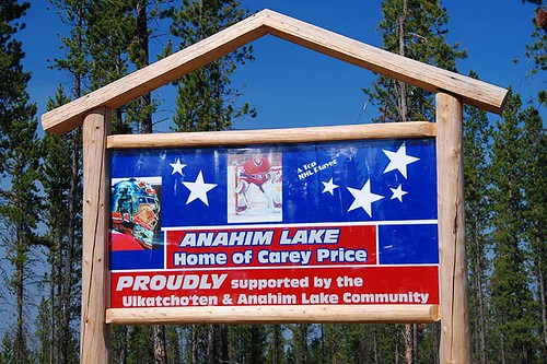 Anahim Lake, home of NHL Goaltender Carey Price