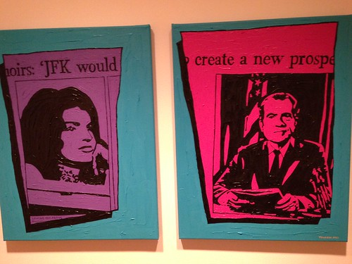 Jacqueline Kennedy and Richard Nixon