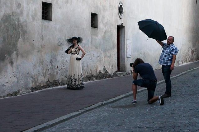 16- Cracovie (Pologne), séance de pose