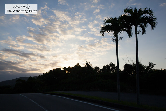 Sunrise and walking around the neighborhood