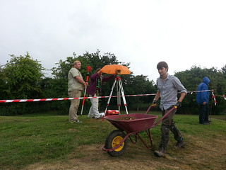 Day 13 - The total station gets its own umbrella