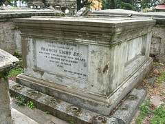 grave of Col Light's father Francis Light taken by Glen Williams 11Sep2013 Protestant British Cemetery Northam Road George Town Penang Malaysia