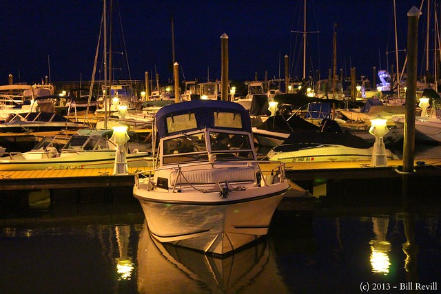 Guilford Harbor night reflections