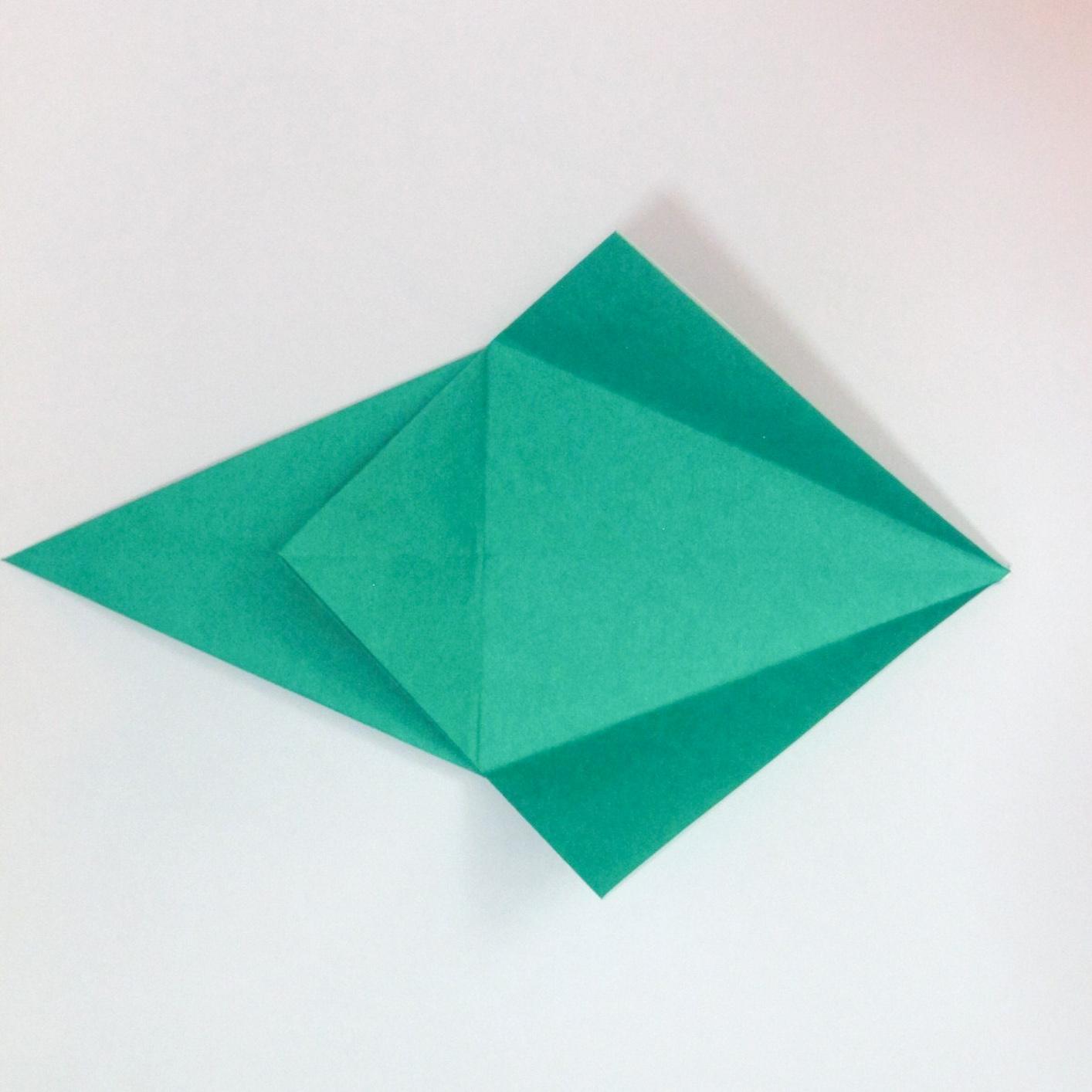 สอนวิธีการพับกระดาษเป็นรูปปลาฉลาม (Origami Shark) 015