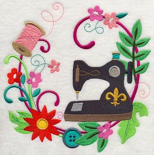 Sew Vintage Floral Wreath