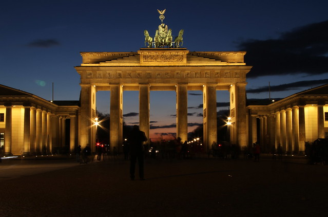 The Brandenburg Gate at dusk [Explored]