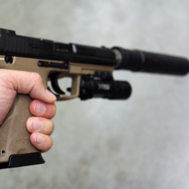 Better shot of the HK45 tactical with KAC suppressor and S… | Flickr