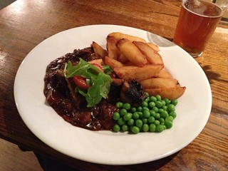 Steak and ale pie, the Black Swan Pub, Alnwick, Northumbria | by Texarchivist