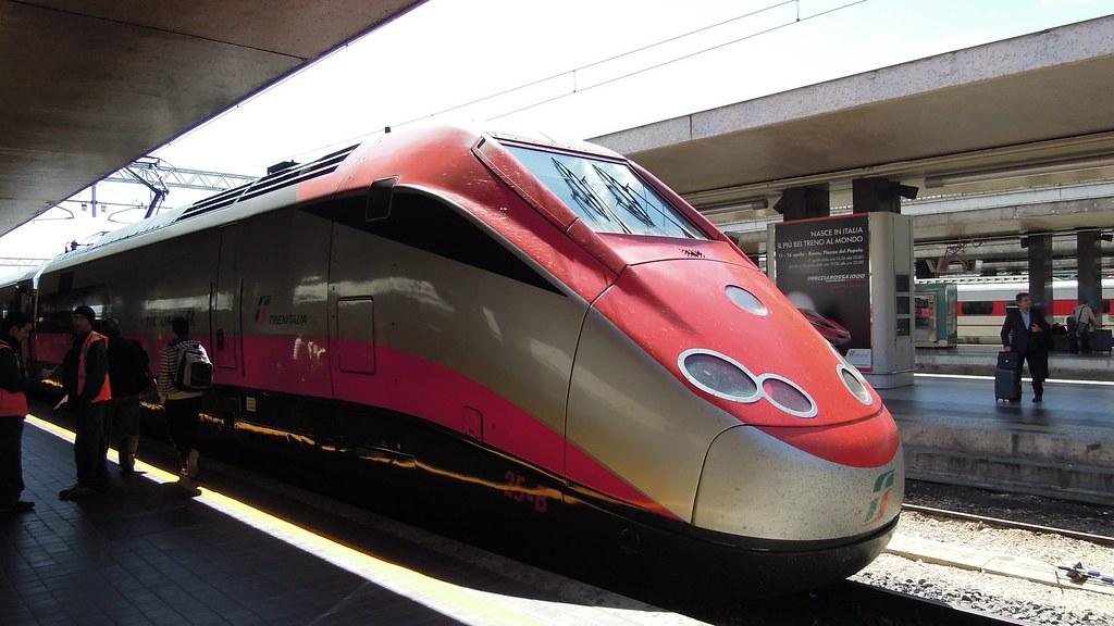 Trenitalia Freccia Rossa high-speed train, Rome Termini Station, Lazio