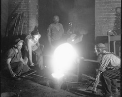 04. Pat O'Neil with transfer ladle at 17th Street foundry.