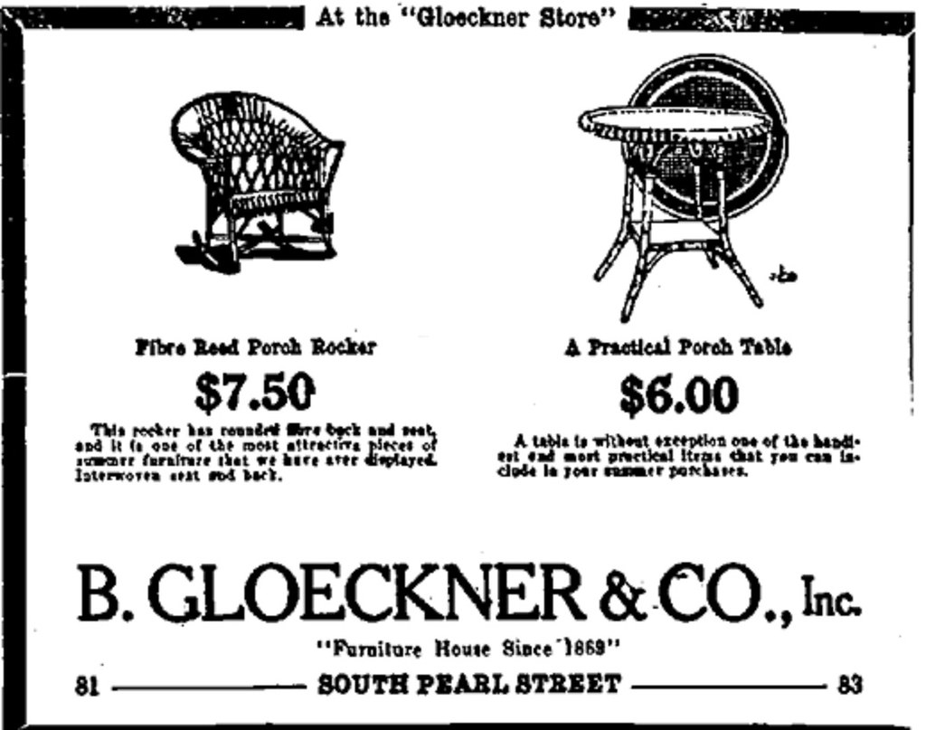B Gloeckner Furniture Store 1922 Albany Ny 1920s Flickr