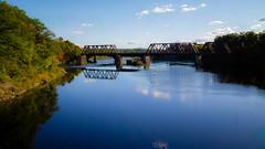 Head of Falls Railroad Bridge; Watervile, Maine