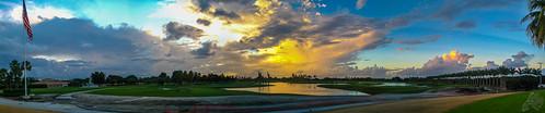 autumn sunset sky panorama usa canon evening florida cloudy panoramic doral lightroom powershotsd1000